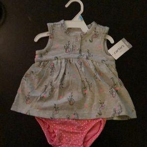 Carters One Piece Flamingo Print Bodysuit